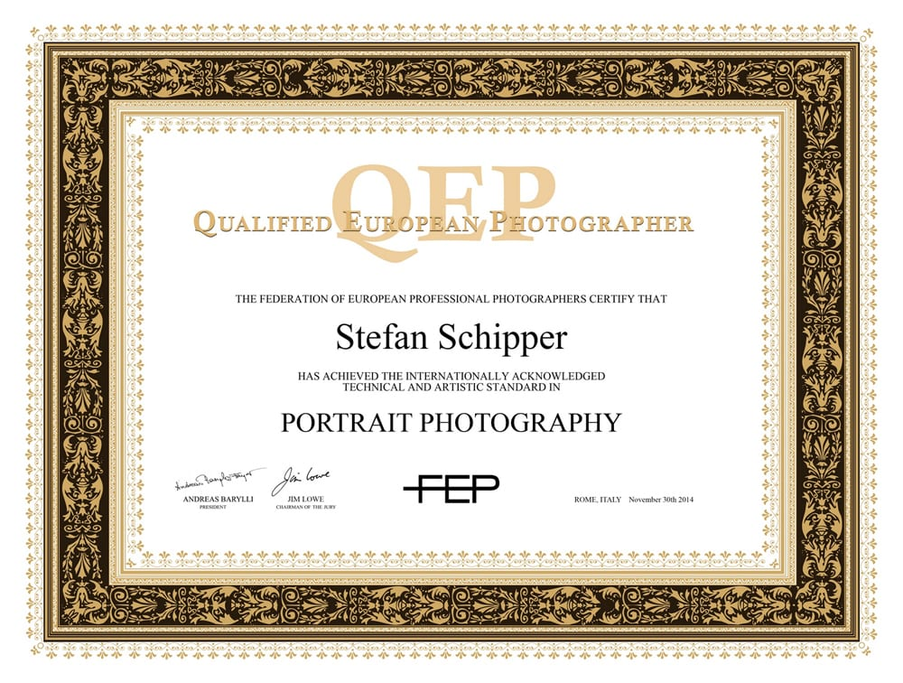 dseign and lay-out for FEP QEP certificate